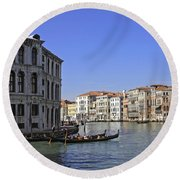 Venice Italy Round Beach Towel