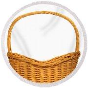 Wicker Basket Number Seven Round Beach Towel