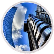 Willis Group And Lloyd's Of London  Round Beach Towel