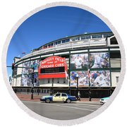 Wrigley Field - Chicago Cubs  Round Beach Towel