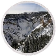 Yellowstone Round Beach Towel