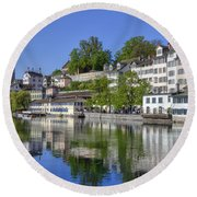 Zurich Round Beach Towel