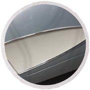 61 Corvette-grey-sidepanel-9244 Round Beach Towel
