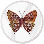 61 Hutchinson's Highflier Butterfly Round Beach Towel by Amy Kirkpatrick