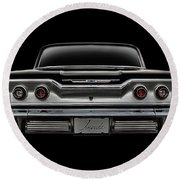 '63 Impala Round Beach Towel