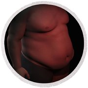 Obesity Round Beach Towel