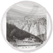 Desolation Sound Quiet Anchorage     Round Beach Towel