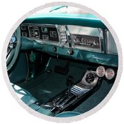 65 Plymouth Satellite Interior-8499 Round Beach Towel