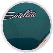 65 Plymouth Satellite Logo-8503 Round Beach Towel