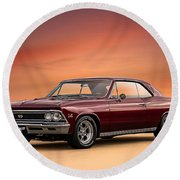 '66 Chevelle Round Beach Towel