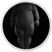Obesity Round Beach Towel
