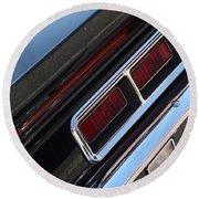 67 Black Camaro Ss Tail Light-8020 Round Beach Towel