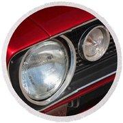 67 Camaro Ss Headlight-8724 Round Beach Towel