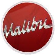 67 Malibu Chevelle Logo -0058 Round Beach Towel