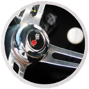 67 Malibu Chevelle Steering Wheel-0055 Round Beach Towel