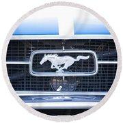 67 Mustang Emblem Round Beach Towel