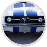 67 Mustang Grill Round Beach Towel