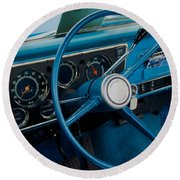 68 Chevy Truck Dash Round Beach Towel