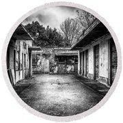 Abandoned Sanatorium Round Beach Towel