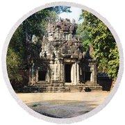 Angkor Thom Round Beach Towel