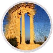 Apollo Sanctuary - Cyprus Round Beach Towel