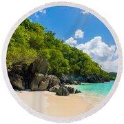 Beautiful Caribbean Beach Round Beach Towel