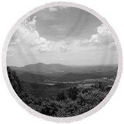 Blue Ridge Mountains - Virginia Bw 2 Round Beach Towel
