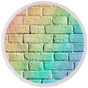 Brick Wall Round Beach Towel