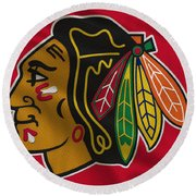 Chicago Blackhawks Uniform Round Beach Towel