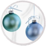 Christmas Ornaments Round Beach Towel
