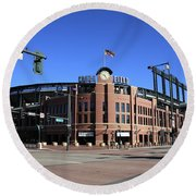 Coors Field - Colorado Rockies Round Beach Towel