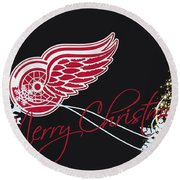 Detroit Red Wings Round Beach Towel