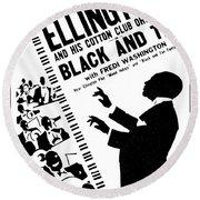 Duke Ellington (1899-1974) Round Beach Towel