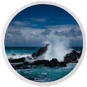 Hookipa Maui North Shore Hawaii Round Beach Towel