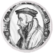 John Calvin (1509-1564) Round Beach Towel