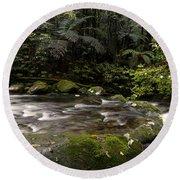 Jungle Stream Round Beach Towel