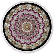 Kaleidoscope Colorful Jeweled Rhinestones Round Beach Towel