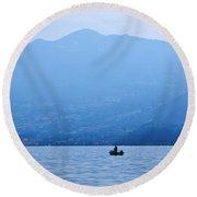 Lago Di Iseo Round Beach Towel