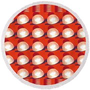 Light Globes Interior Decorations Entertainment Hotels Resorts Casino Bar Las Vegas America Usa Round Beach Towel