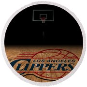 Los Angeles Clippers Round Beach Towel