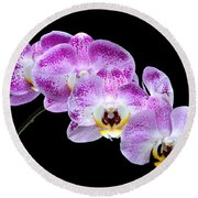 Moon's Orchid  Round Beach Towel