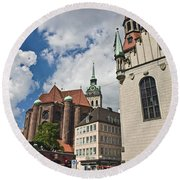 Munich Germany Round Beach Towel