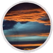 Nevada Skies Round Beach Towel