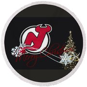New Jersey Devils Round Beach Towel