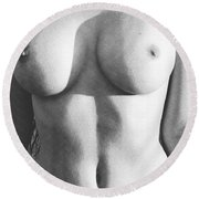 Nude Women Round Beach Towel