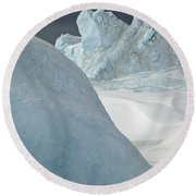 Pack Ice, Antarctica Round Beach Towel