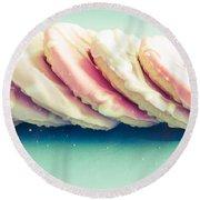 Pink Cookies Round Beach Towel
