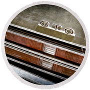 1969 Pontiac Gto Taillight Emblem -0475a Round Beach Towel