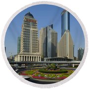 Pudong Skyline Round Beach Towel
