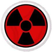 Radiation Warning Sign Round Beach Towel